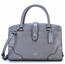 Brand New Coach Mercer 24 Satchel Crossbody Leather handbag bag Metallic 59988