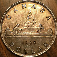 1938 CANADA SILVER DOLLAR COIN
