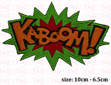 kaboom iron sew on patch comic novelty batman embroidered badge applique  # 049