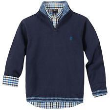 NEW Izod Boy's 2-Piece  Button Up & 1/4 Sweater Set Size, XSmall (4/5)