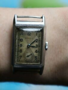 Rolex FORBES Prince Elegant 1933 Art Deco tank men wrist watch original rare