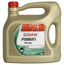 CASTROL POWER 1 RACING 2T  2 Stroke Motorcycle Scooter OIL  4 LITRE 4L