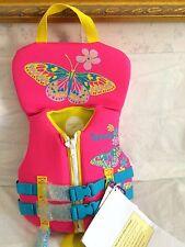 New SPEEDO INFANT  NEOPRENE FLOTATION DEVICE VEST JACKET PINK BLUE Life