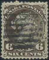 Canada #27 used VF 1868 Queen Victoria 6c dark brown Large Queen CDS CV$200.00