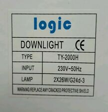 CFL DOWNLIGHT WHITE COMPLETE 2x26w