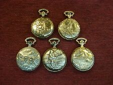 FIVE DIFFERENT QUARTZ POCKETWATCHES - JUST IN AND READY TO HEAD TO A NEW HOME