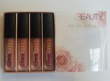Genuine HUDA BEAUTY Matte Mini Liquid Lipstick Set 4 pcs -PINK LOVE COLLECTION