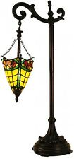 Floor Lamps For Reading Hand Crafted Shade Vintage Bronze Finish Glass Tall NEW
