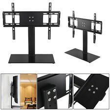 Universal Table Top Pedestal TV Stand Base With Mount Bracket LCD LED Plasma TVs
