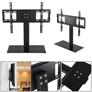 Universal Table Top Pedestal TV Stand Base With Mount Bracket LCD LED Plasma TVs