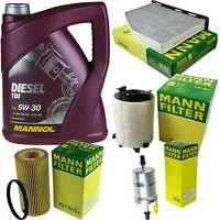 Motor Oil 5L Mannol Diesel Tdi 5W-30 + Mann Filter Filter Audi A3 8P1 2.0
