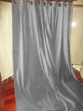 IKEA SANELA MEDIUM GRAY VELVET GROMMET (PAIR) UNLINED DRAPERY PANELS 56 X 96