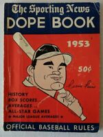 1953 Sporting News DOPE BOOK - MLB Baseball - Ferris Fain Cover - Stats History