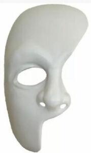 Plastic Phantom of the Opera Half Mask Costume Accessory Halloween