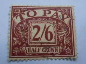 1914 - GB - KGV - Postage Due Stamp - 2/6d - Purple on Yellow