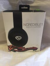 Ncredible1 Wireless Bluetooth Headphones (Black), by Nick Cannon FOR PARTS 20
