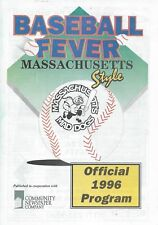 1996 Massachusetts Mad Dogs Minor League Baseball Program - Independent #FWIL