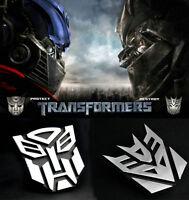 Alloy Transformers Autobot 3D Logo Emblem Badge Graphics Decal Car Sticker Decal