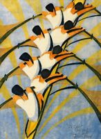 The Eight : Cyril Power  : Circa 1930 rowing scullers  Fine Art Print