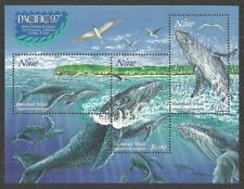 NIUE 1997 PACIFIC 97 WHALES MARINE MAMMALS M/SHEET MNH