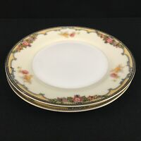 Set of 2 VTG Bread Plates Noritake Oxford Multi Floral Sprays 85963 Japan