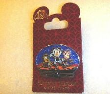 Disney pin WDW - Mission: Space - Mickey, Minnie, and Pluto  Blue Glitter