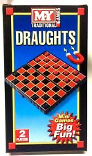 Magnetic Pocket Mini Travel Board Game Snakes Ladders Ludo Chess Draughts HTI/MY