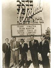 Rat Pack In Front of Sands Casino Sign Las Vegas NV Sinatra Martin Bishop Davis