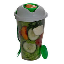 Bowl For With Fork On The Go Shaker Dressing Salad Container Serving Cup Fruit