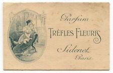 "Vintage French Perfume Advertising Card: ""Trefles Fleuris"" [Paris]"