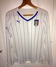 BNWOT 2014/2016 Italy Italia Puma Away Long-Sleeved Shirt Size L/14