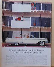 1960 magazine ad for Mercury - Park Lane Convertible, 2 Great Danes at mod apt.