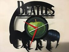 Repurposed Vinyl Record Clocks and Wall Art -  Beatles 2 With Label