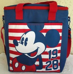 NWT DISNEY Mickey Mouse 1928 BAG Cooler Insulated Picnic Beach Tailgating Straps