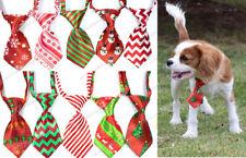10X Christmas Puppy Dog Cat Small Neck Ties Adjustable Dog Ties Pet Supplies