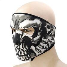 Biker Motorrad Gang Face Mask Totenkopf Maske Sturmhaube Gesichtsschutz Neopren