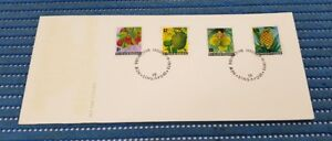 1973 Singapore First Day New Definitives Issue Local Fruits High Value Stamps