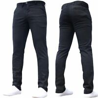 Mens Designer Trousers Chinos Stretch Slim Fit Skinny Jeans SNS Pants All Sizes