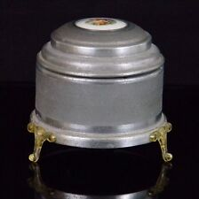 Vintage Thorens Footed Music Box w/ Beautiful Picture On Top Cover Works Perfect