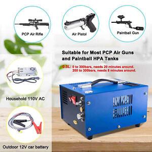 Portable Air Compressor Air Pump 4500Psi/30Mpa PCP Rifle/Pistol & Paintball Tank