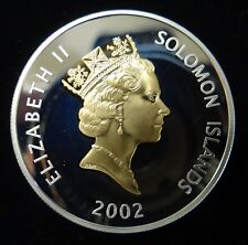 2002 Solomon Islands $5 Silver Proof Coin in Beautiful Condition (See Pics)