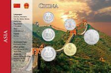 China, 1 Fen - 1 Yuan 6 Coins, World Coin Set english
