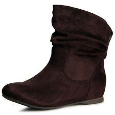 Chaussures Femme Semelle Compensée Bottines Bottes Bottes Hidden Wedges 40