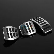 Silver Car Pedal Cover Set MT for VW Beetle Bora Golf Polo Fox SKODA Fabia AP