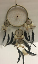 """Dream Catcher  Earthbound Trading Co Large 26"""" Beige White Black NEW Indonesian"""