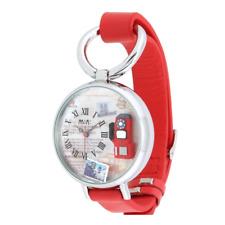 Orologio MINI WATCH 3D ref. MN976 mod. TELEPHONE donna pelle rosso numeri romani