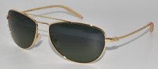 NEW AUTHENTIC SUNGLASSES MOSLEY TRIBES PILOT G GOLD / GREEN VFX POLARIZED