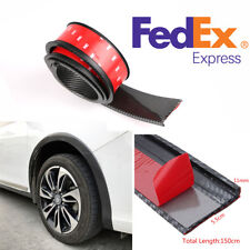 2x 1.5M 5.5CM Rubber Strip Car Fender Flare Wheel Eyebrow Protector Lip US Stock