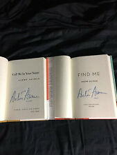 Signed Andre Aciman Call Me By Your Name And Find Me Hardcover Books