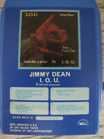 Jimmy Dean IOU 8 Track Tape 1976 Frilly Shirt Waking Up To Love Sleeping Beauty
